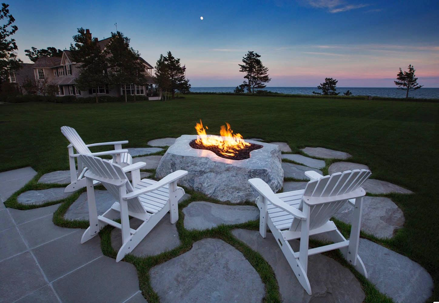 Duck Cove schist fire pit