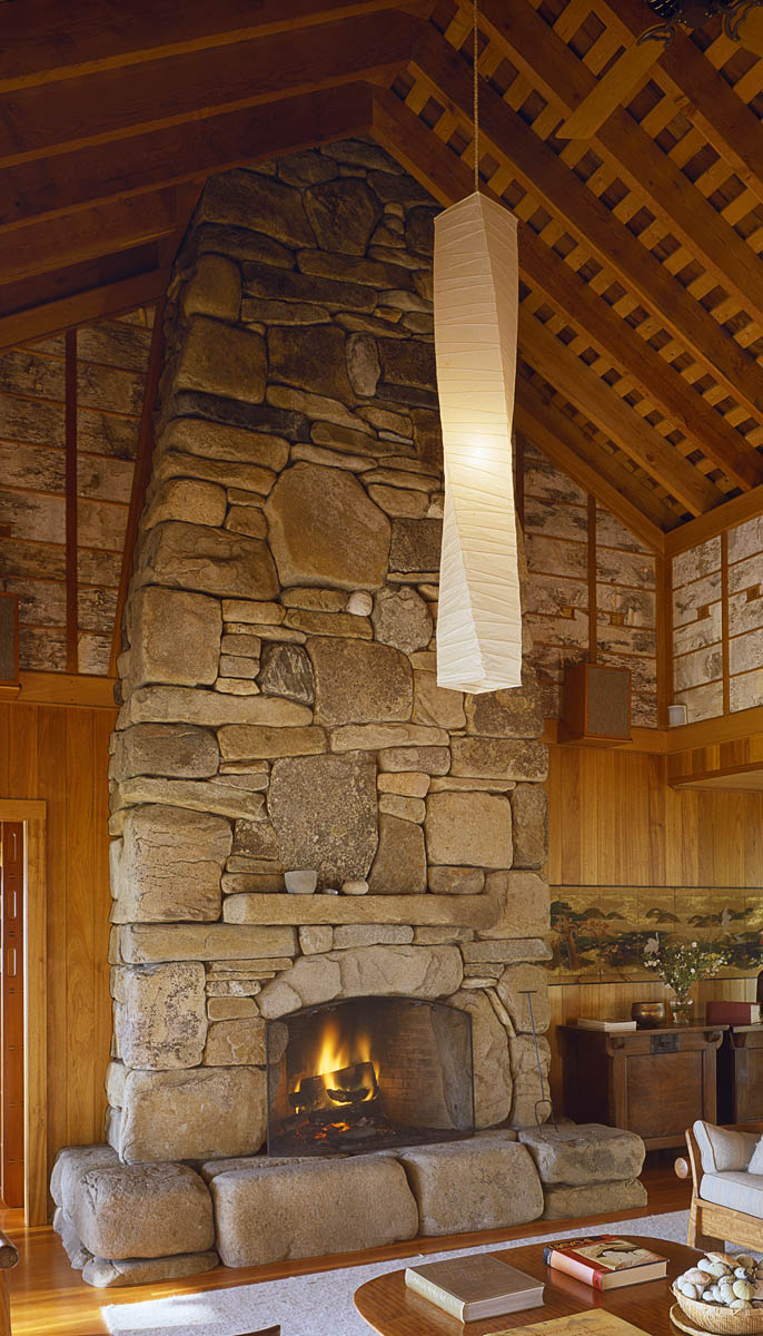 diy rustique remodeling stacked project first part fireplace before stone after hirondelle