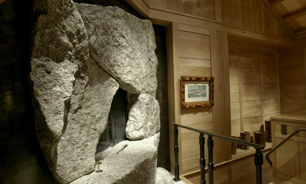 Fireplace granite stonework