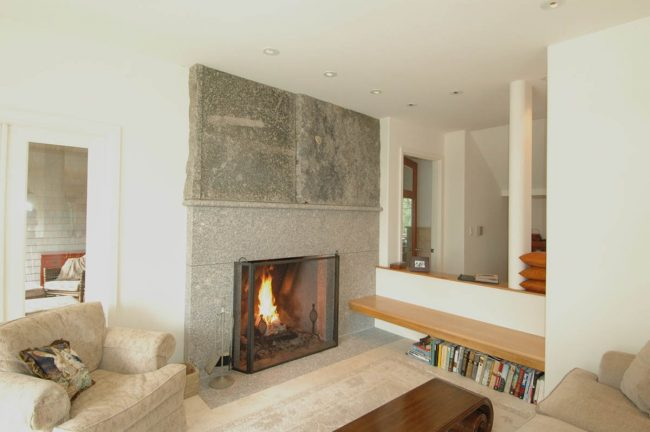 Freshwater Pearl granite fireplace