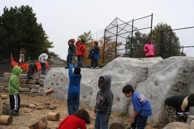 Freshwater Pearl granite climbing wall