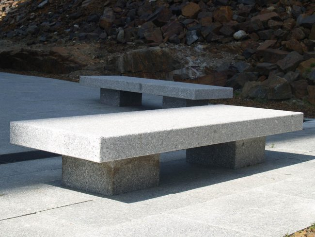 Freshwater Pearl granite benches