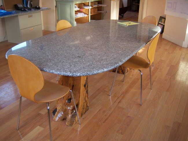 Freshwater Pearl granite tabletop