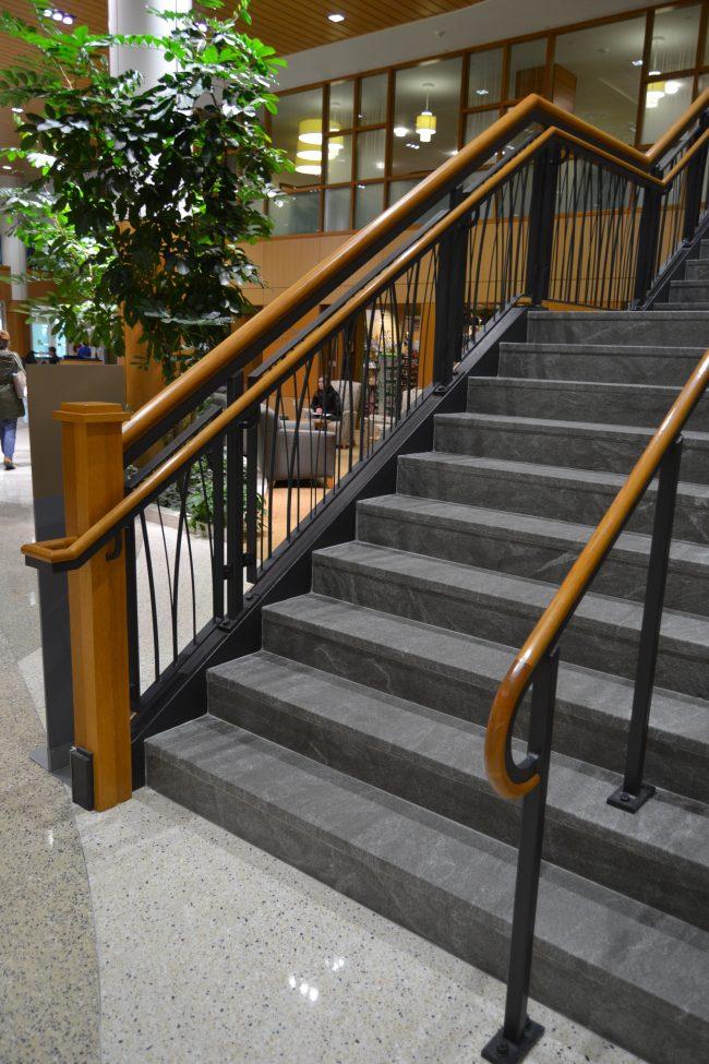 Jet Mist granite steps