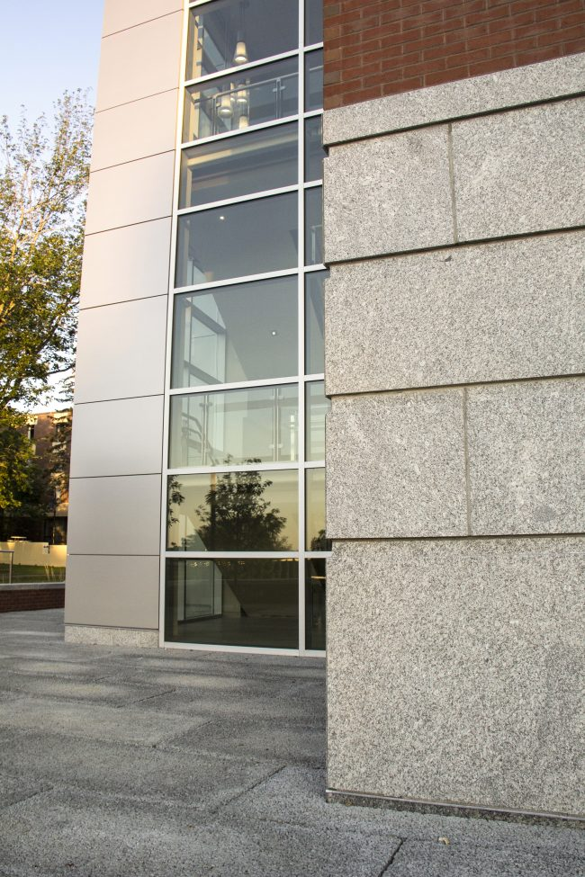 Freshwater Pearl granite facade panels and pavers