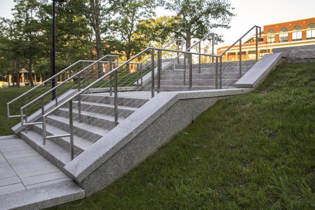 Freshwater Pearl granite steps