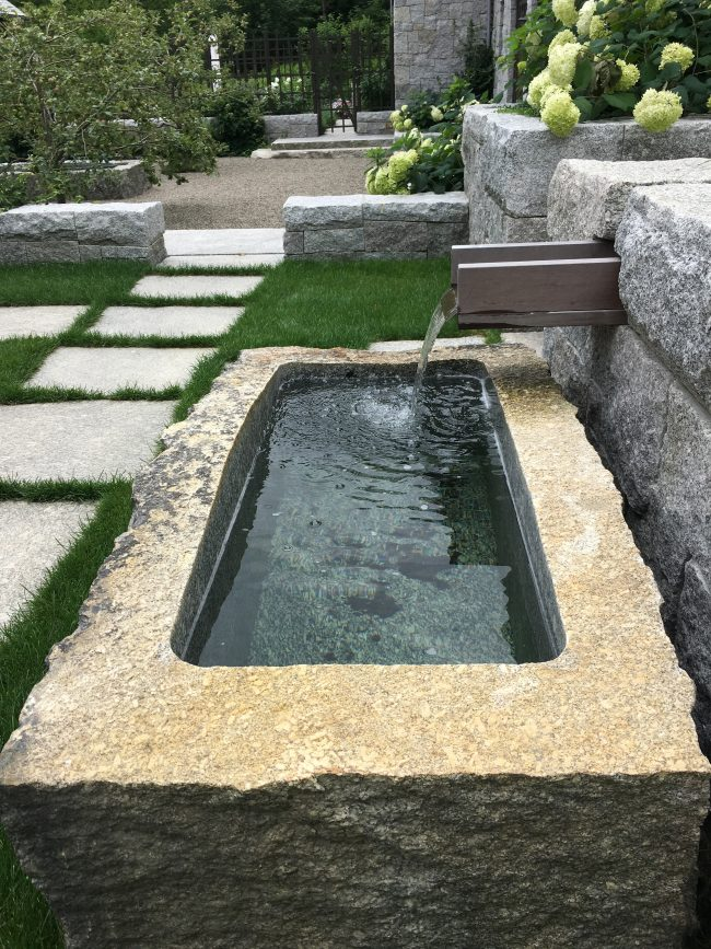Weathered Freshwater Pearl granite fountain