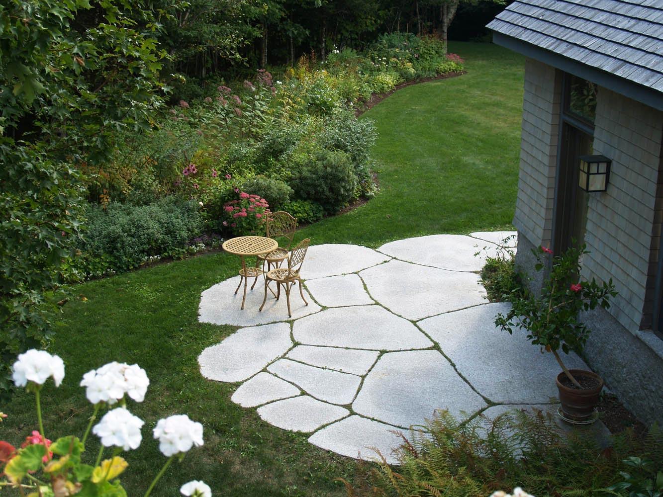 Freshwater Pearl granite irregular pavers