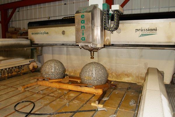 Creating granite globes