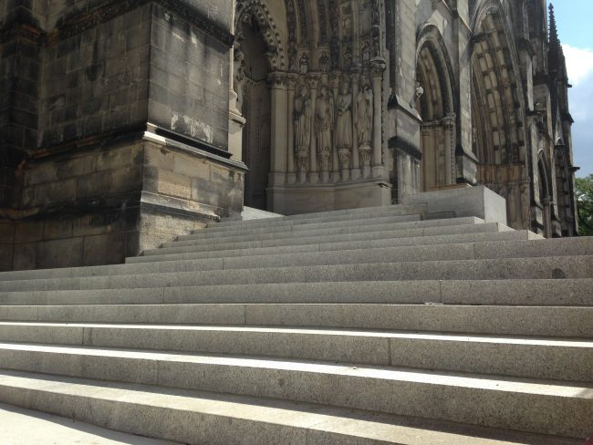 Freshwater Pearl granite historical restoration stonework, Cathedral of St. John the Divine, NYC