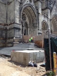 Historical Restoration stonework to the Cathedral of St. John the Divine, NYC
